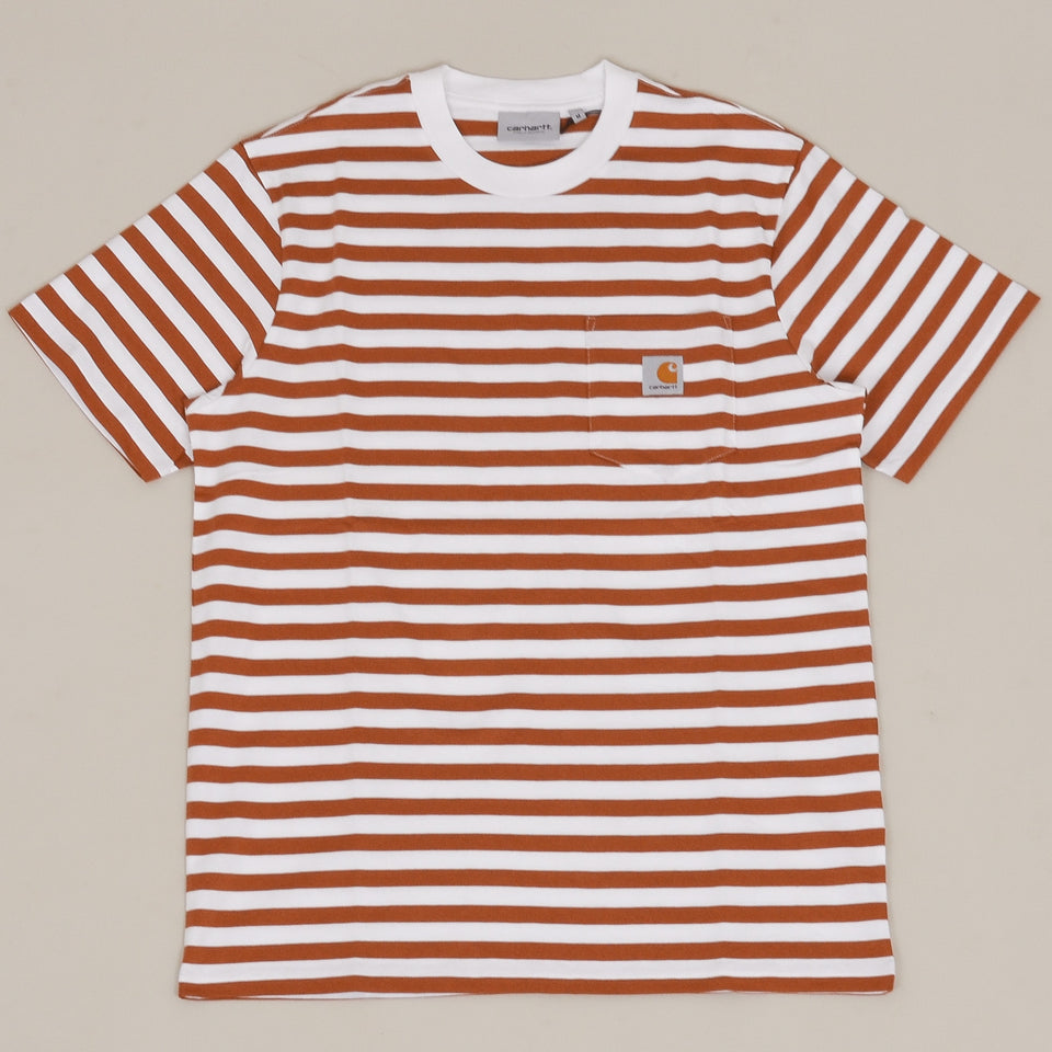 Carhartt WIP S/S Scotty Pocket T-Shirt - Rum / White