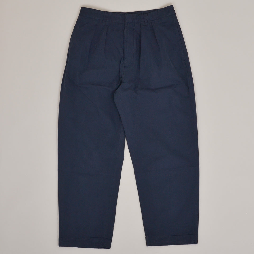 Albam Havana Double Pleat Trouser - Navy