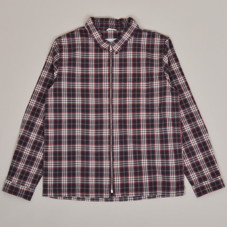 Albam Blake Jacket Brushed Flannel - Charcoal Tartan Check