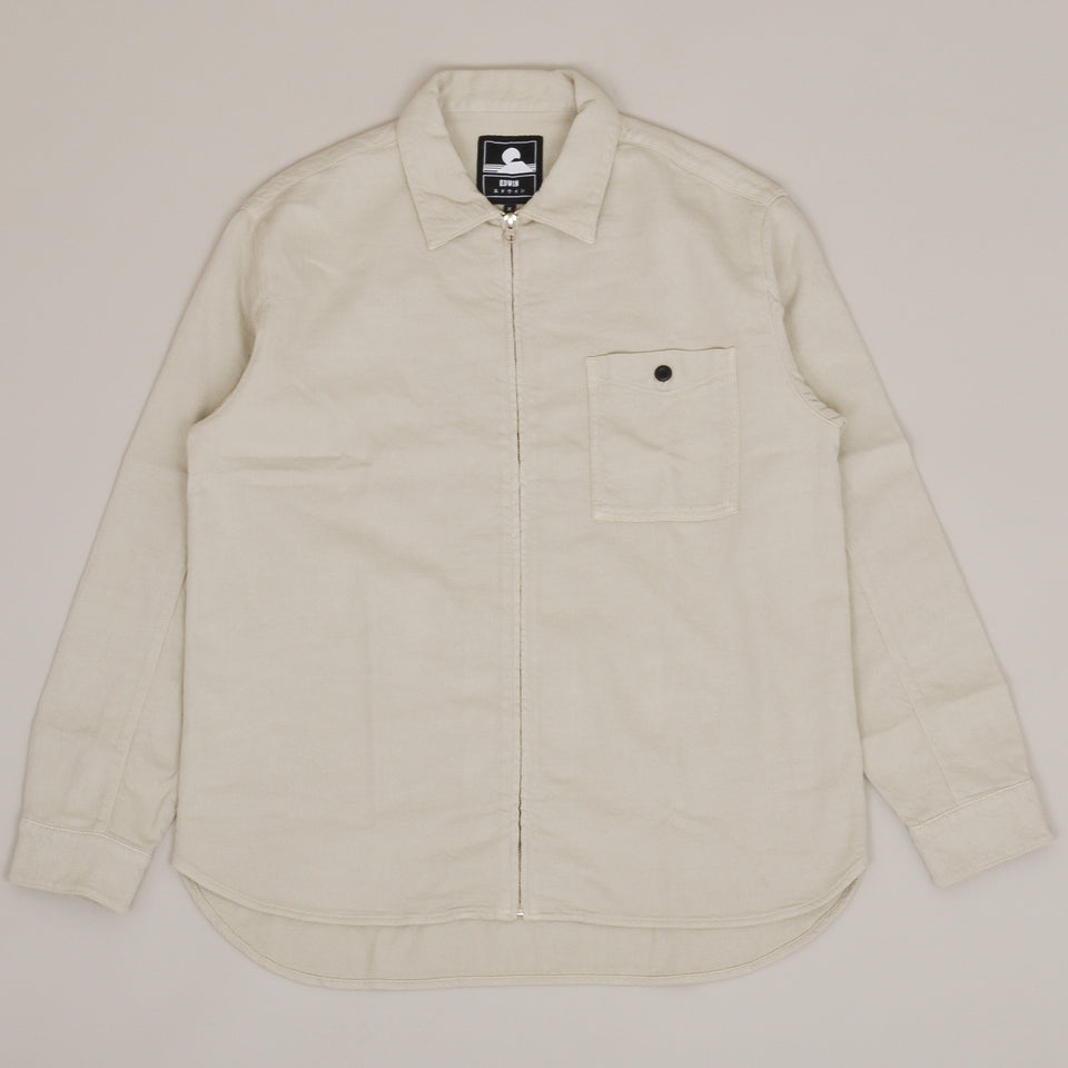 Edwin Wilson Zip Through Shirt - Pelican