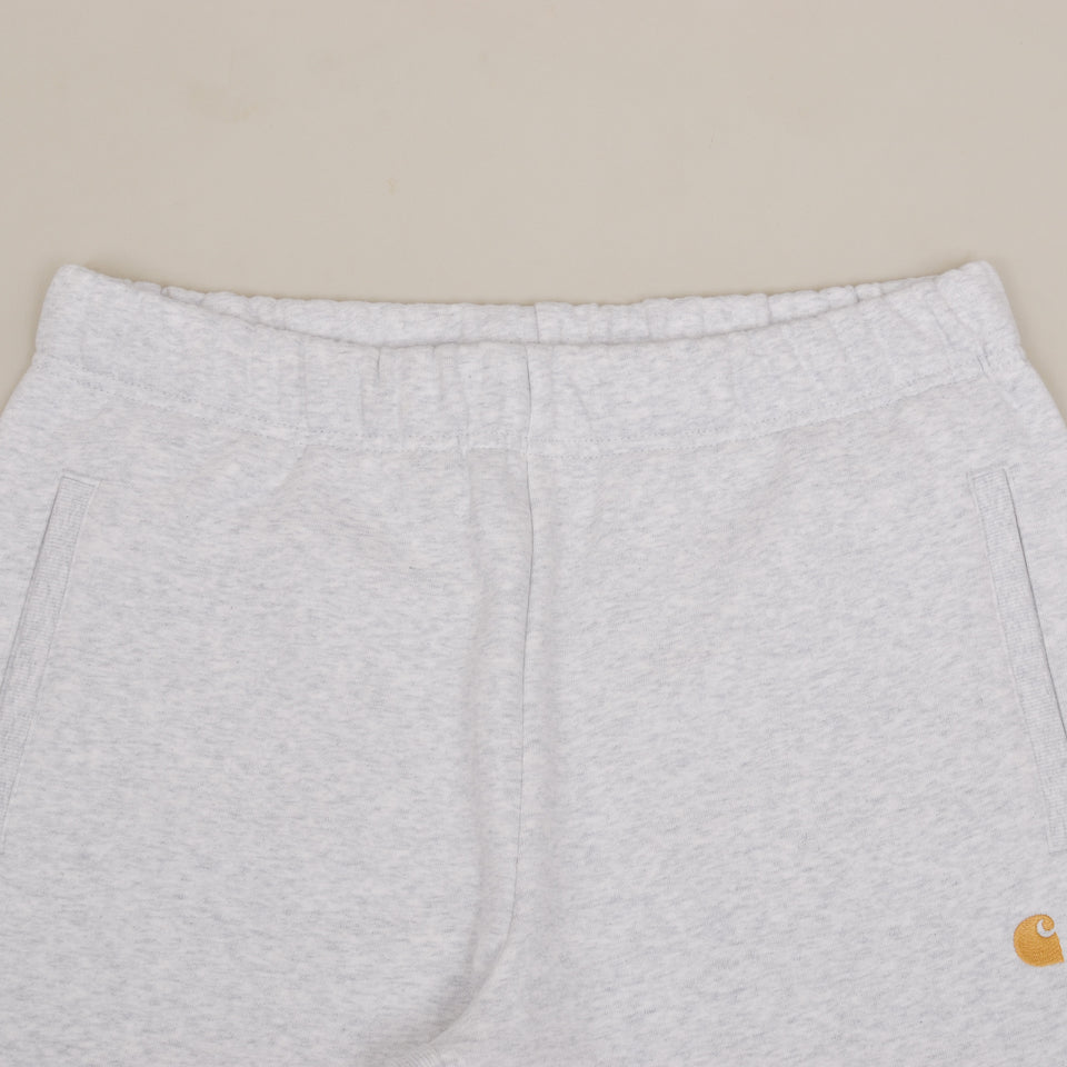 Carhartt WIP Chase Sweat Shorts - Ash Heather / Gold