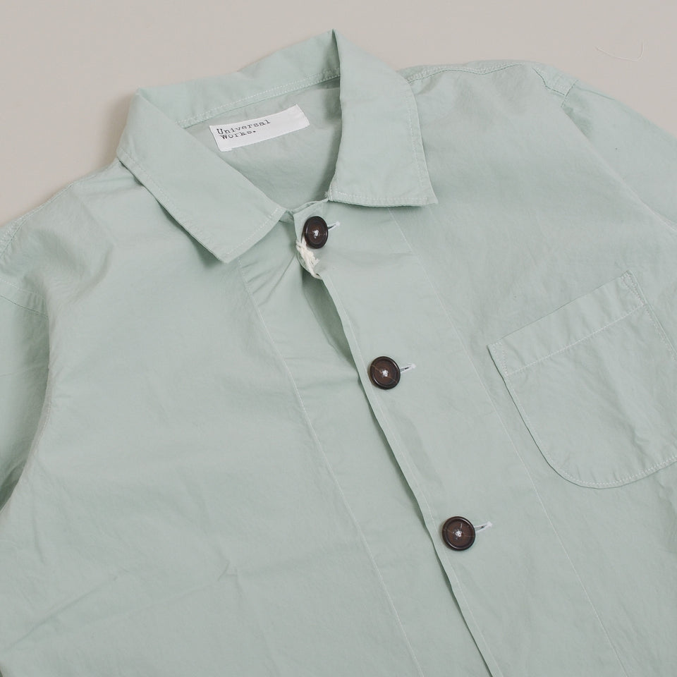 Universal Works Bakers Overshirt Poplin - Cool Green