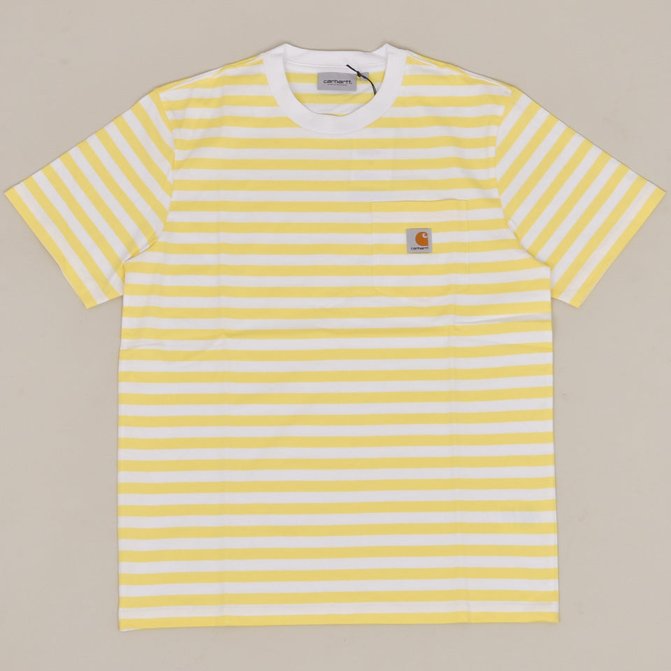 Carhartt WIP S/S Scotty Pocket T-Shirt - Limoncello / White