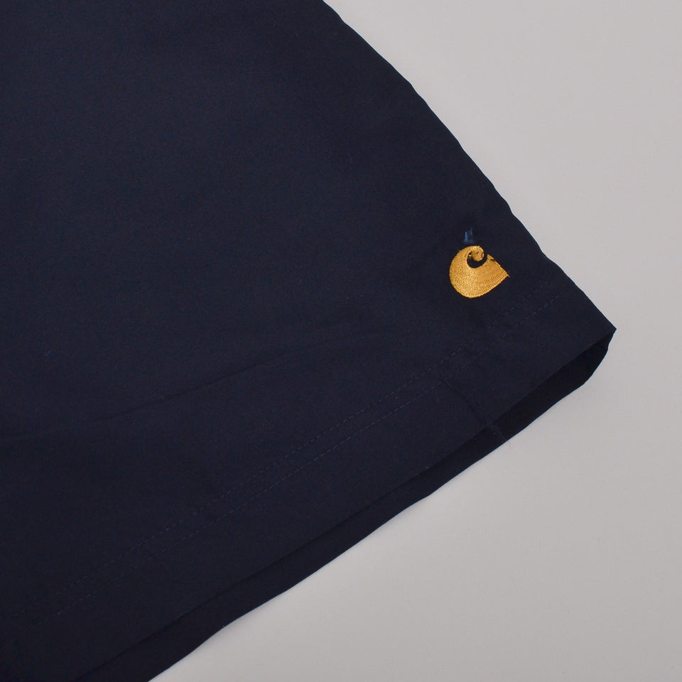 Carhartt WIP Chase Swim Trunks - Dark Navy / Gold