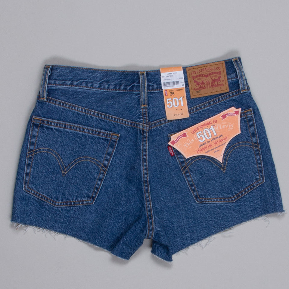 Levi's 501 Shorts Dark Washed