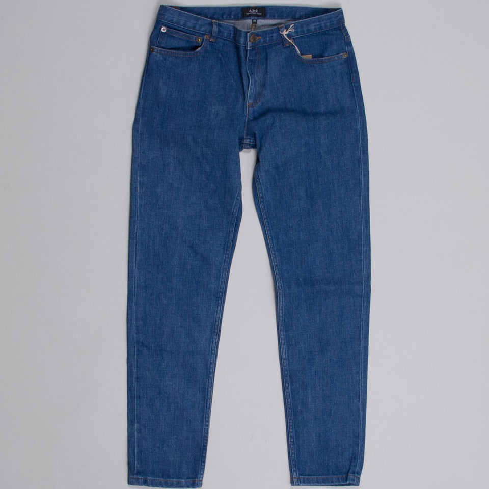 A.P.C. Jean Etroit Court Indigo Washed (Straight Fit)
