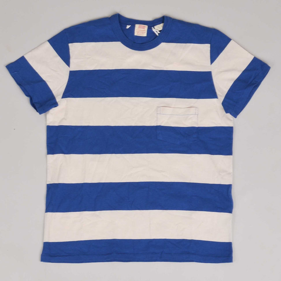 Levis Vintage Clothing 1960s Casual Stripe Tee - Blue/White