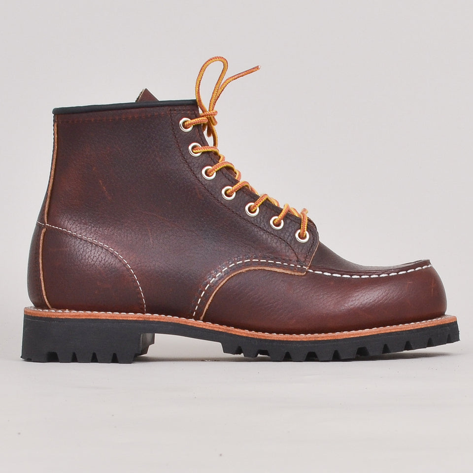 "Red Wing 6"" Roughneck - Briar Oil Slick Leather """