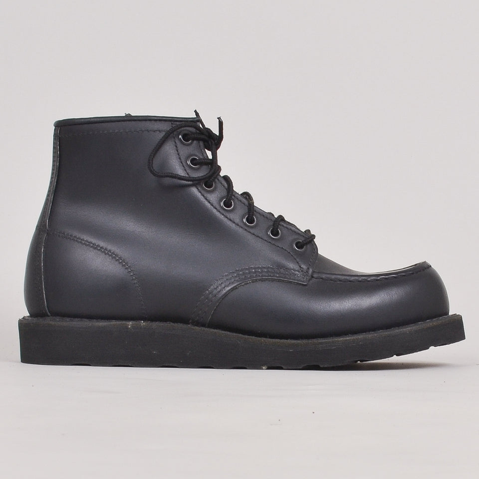 "Red Wing 6"" Moc Toe - Black Skagway"""