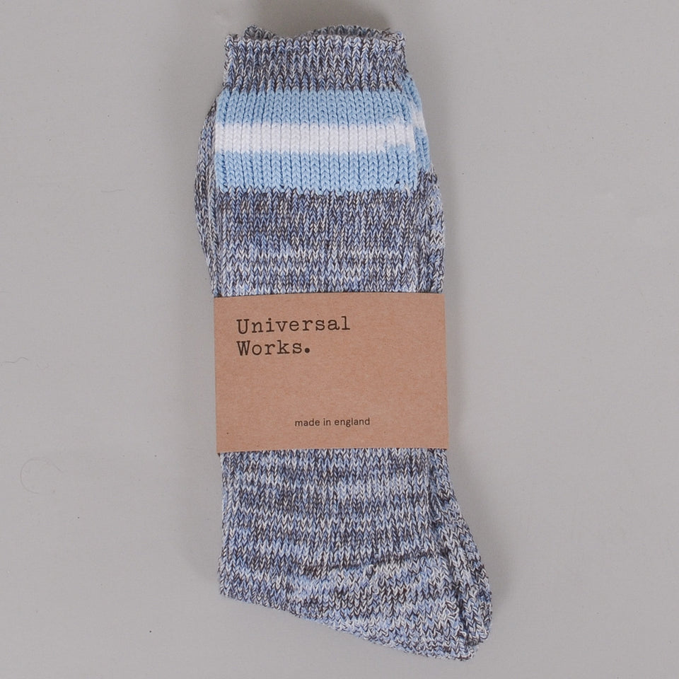 Universal Works Everyday Sock - Cornish Blue