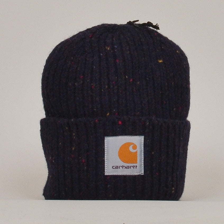 Carhartt WIP Anglistic Beanie - Dark Navy Heather