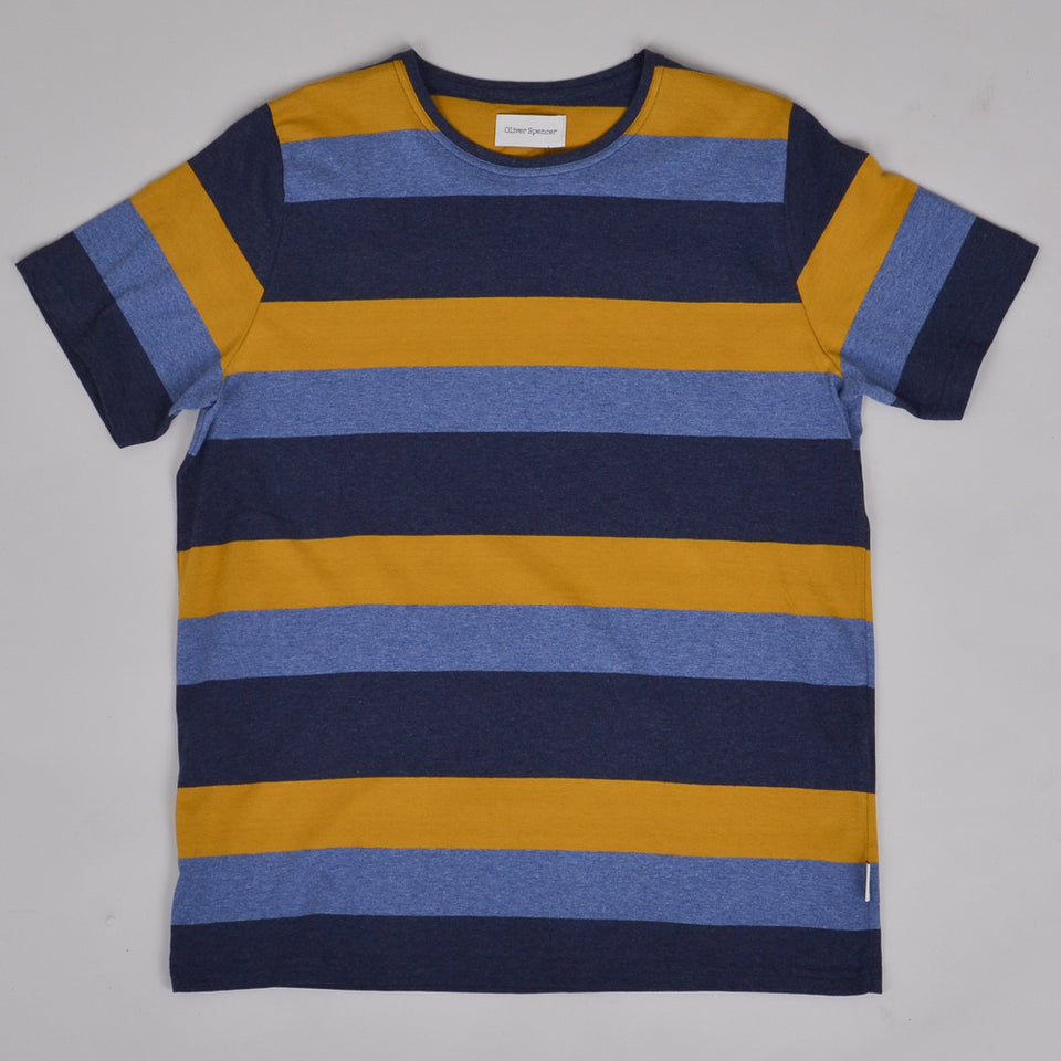 Oliver Spencer Sala Conduit Tee - Navy Multi
