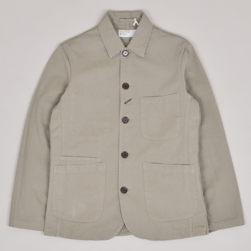 Universal Works Bakers Jacket Canvas - Laurel