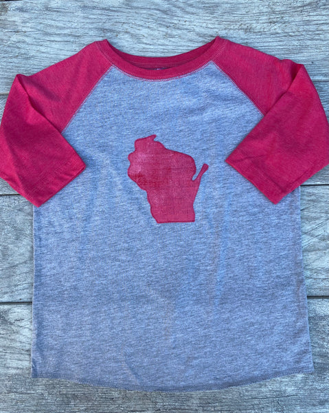 Pink Wisconsin Baseball t-shirt