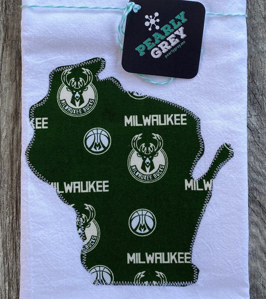 Milwaukee Bucks Kitchen Wisconsin Towel Tea Towel Flour Sack Towel