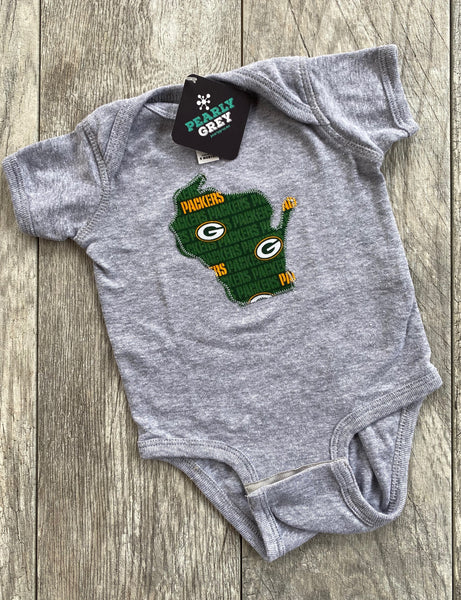 Wisconsin Bodysuit Green and Gold Packers 0-18 months