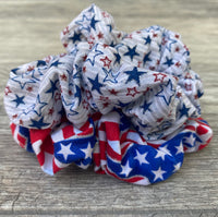 Fourth of July scrunchies
