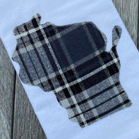 Black and Gray Plaid Wisconsin Flour Sack Towel