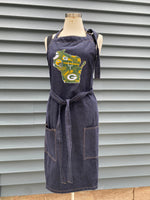Green Bay Packers Apron Kitchen Cooking, Baking and Gardening Apron | Holiday Gift