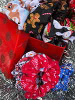 Christmas Scrunchie Mystery Bag, 5 Scrunchies