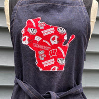 Wisconsin Badgers Apron Kitchen Cooking, Baking and Gardening Apron | Holiday Gift