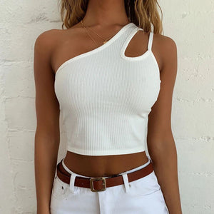 One Shoulder Tank Top Vest