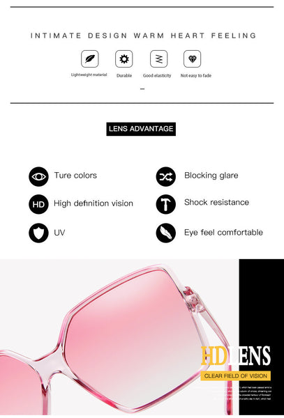 Oversized square womens trendy sunglasses
