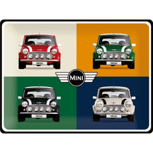 Load image into Gallery viewer, Tin Sign - Mini - 4 Cars Pop Art