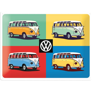 Tin Sign - Volkswagen VW Four Bulli - Pop Art - Special Edition