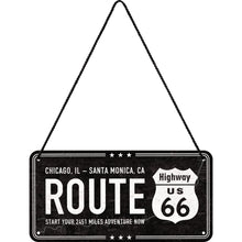 Load image into Gallery viewer, Hanging Tin Sign - Highway 66
