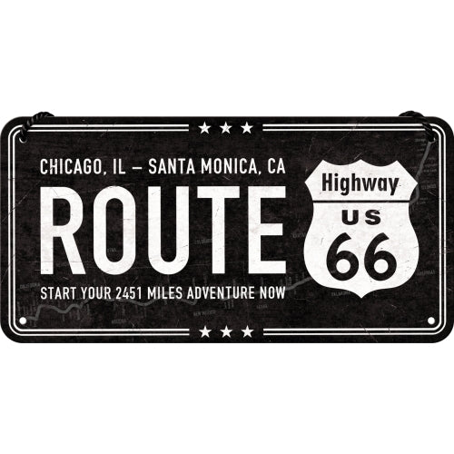 Hanging Tin Sign - Highway 66