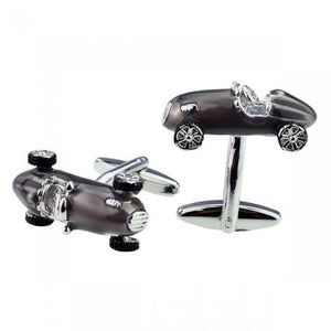 Retro Style Motor Racing Car Cufflinks