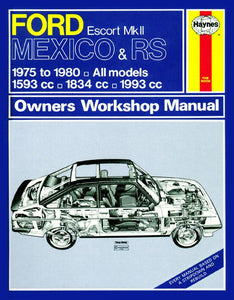 Ford Escort MKII Mexico & RS Classic Re-Print (75 - 80)