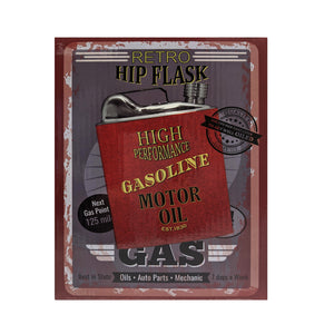 Hip Flask Retro Oil Can