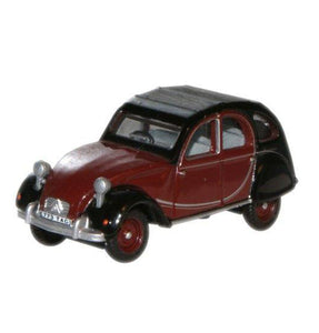Citroen 2CV Charleston Maroon/Black 1:76 Scale