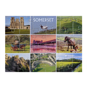 Somerset - Jigsaw Postcard