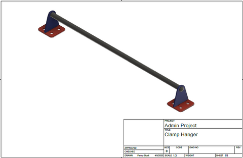Clamp/Tool Hanger DXF File