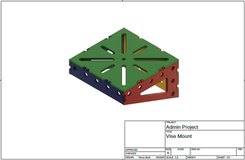 Vise Mount DXF File