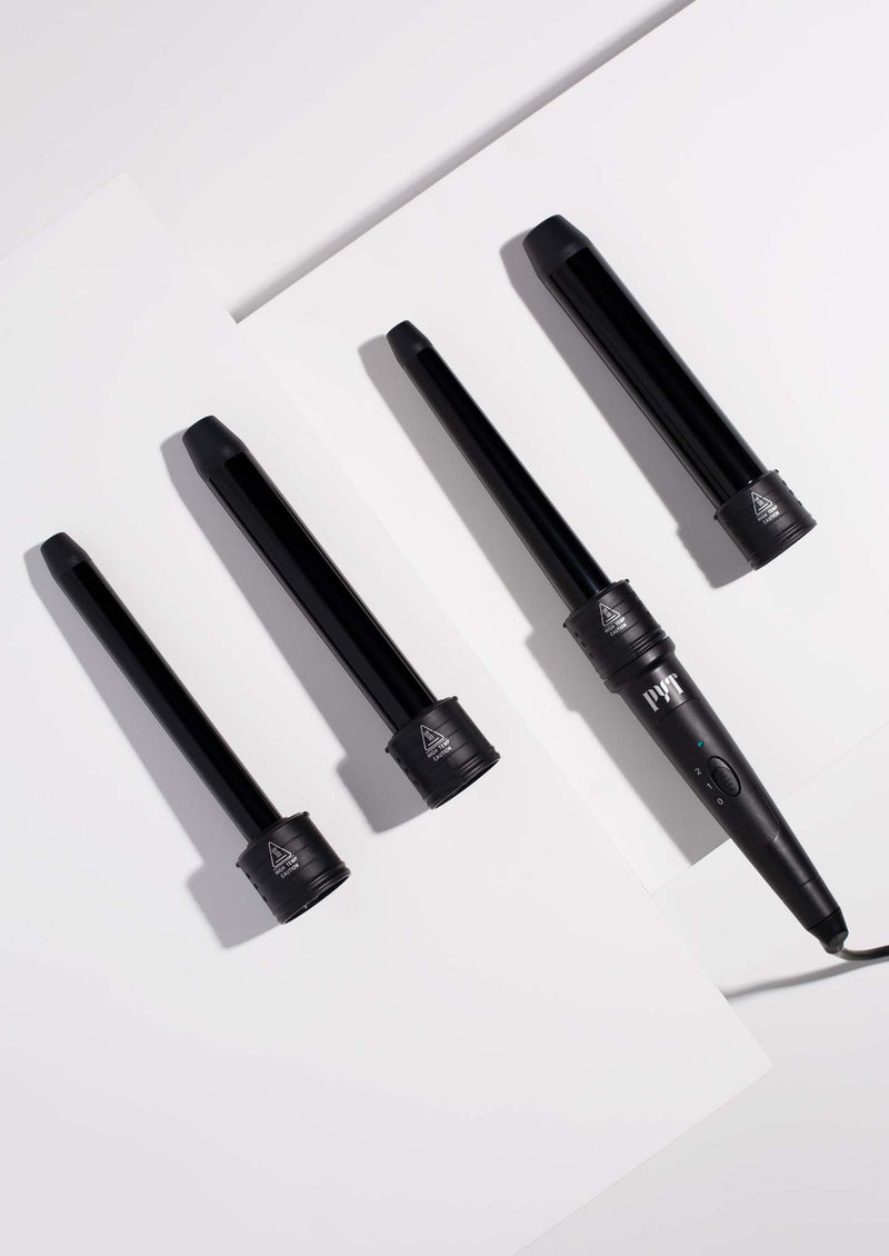 4P Curling Wand Set <p> Black