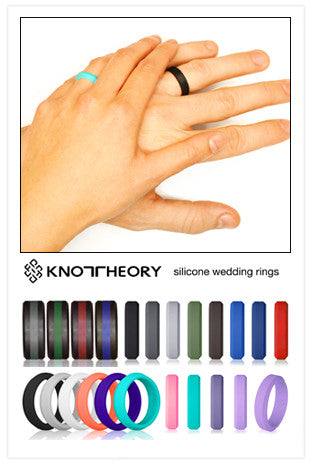 All Silicone Wedding Rings for Men and Women