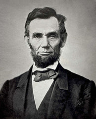 Abraham Lincoln in a diamond point bow tie