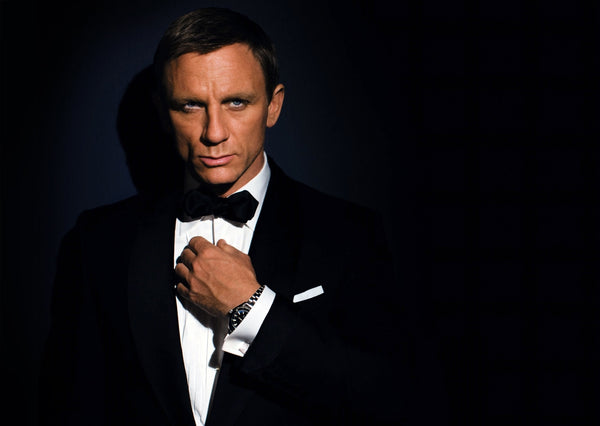 Daniel Craig is the first James Bond to wear a diamond point bow tie!