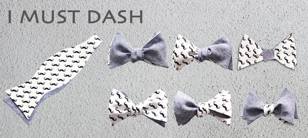 Moustache bow tie for Movember and beyond!