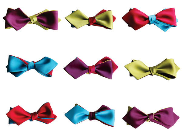 Infinity bow ties in diamond form