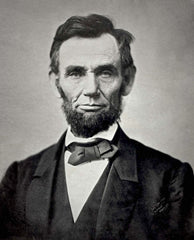 Abraham Lincoln in diamond point bow tie