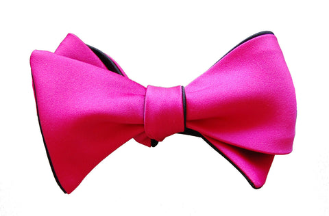 6-Way Hot Pink and Black Butterfly bow tie