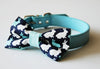 Rabbit Chase Dog Bow Tie with Collar - Limited Edition