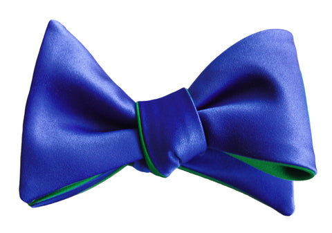 6-Way Royal Blue & Jade Green Butterfly bow tie