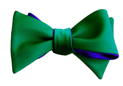 6-Way Jade Green & Royal Blue Self-tie bow tie