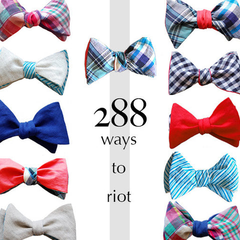 Set of 4 Linen Bow Ties: Create 288 Looks